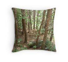 trees in the forest Throw Pillow