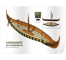 Gokstad Viking Ship Poster