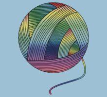 Rainbow Yarn Ball! Kids Tee