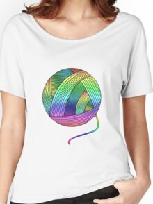 Rainbow Yarn Ball! Women's Relaxed Fit T-Shirt