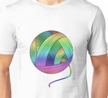 Rainbow Yarn Ball! Unisex T-Shirt