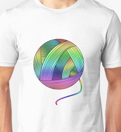 Rainbow Yarn Ball! Unisex T-Shirt