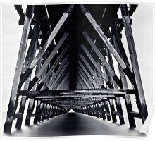 Under The Pier - Monotone Poster