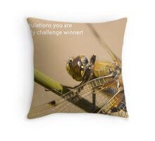 Dragonfly challenge banner Throw Pillow