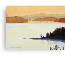 Tea Rose Twilight Canvas Print