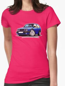 VW Golf GTi (Mk2) Blue Womens Fitted T-Shirt