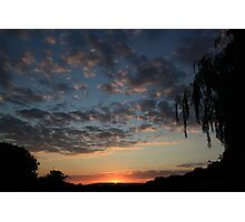 """""""Sunset over Newdigate village"""" Photographic Print"""