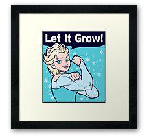 Funny Gym Elsa Let It Grow Frozen Fitness Framed Print
