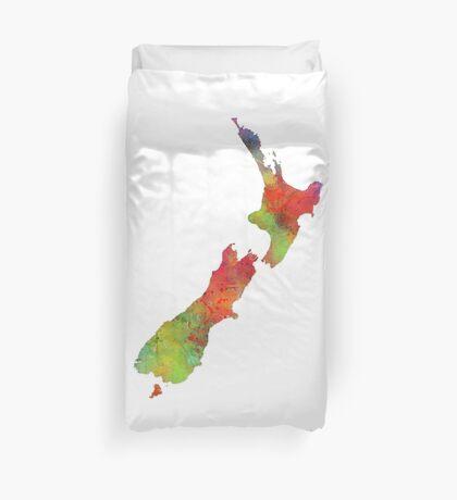NZ Map Duvet Cover