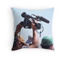 Professional, Shooting Over the Crowd Throw Pillow
