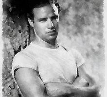 Marlon Brando by John Springfield by esotericaart