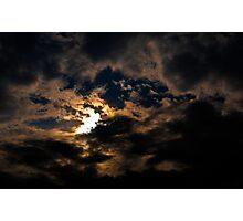 sun behind clouds Photographic Print