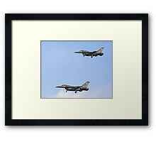 Pair of F-16 Fighting Falcons landing during Red Flag 10-2 Framed Print