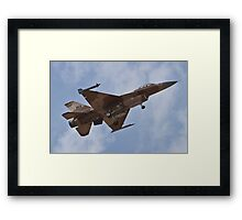 Desert camouflaged F-16 Fighting Falcon landing during Red Flag 10-2 Framed Print