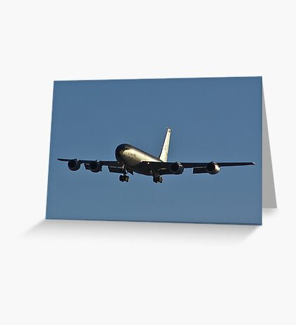 Gas station in the sky - KC-135 Strato-tanker Greeting Card