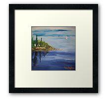 Italian Lake Framed Print