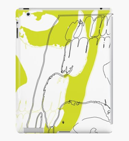 Lime Green Rick Genest & Shaddow iPad Case/Skin