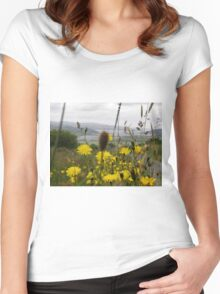 Flora - Burt Co. Donegal Ireland Women's Fitted Scoop T-Shirt