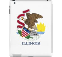 Illinois USA State Flag Chicago Bedspread T-Shirt Sticker iPad Case/Skin