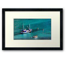 Marble Sea Framed Print