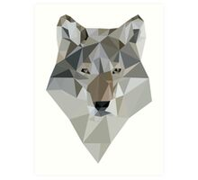 Polygon Wolf Art Print