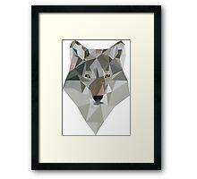 Polygon Wolf Framed Print