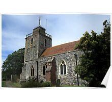 St Mary, Woodnesborough Poster
