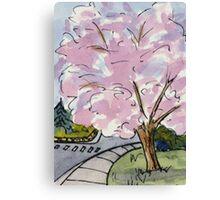 Cherry Tree in Bloom Canvas Print