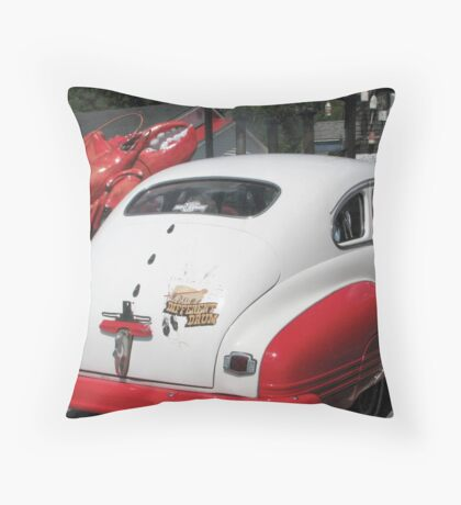 LobsterRestaurant Owners' 1946 Pontiac Throw Pillow