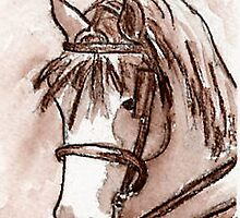 Draft Horse in Sepia by Brenda Scott