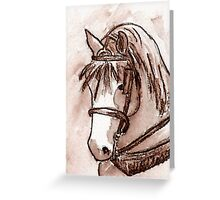 Draft Horse in Sepia Greeting Card