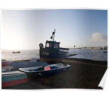 Boats at Mudeford Poster