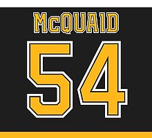 Boston Bruins Adam McQuaid Jersey Back Phone Case by Russ Jericho