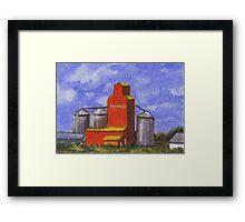 Prairie Grain Elevator Framed Print