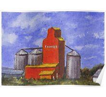 Prairie Grain Elevator Poster