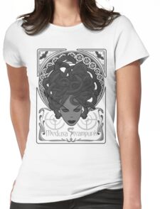 Steampunk Medusa Womens Fitted T-Shirt