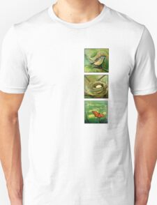 Nature with mockingbird, nest and butterfly T-Shirt