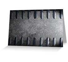 Metal railings and stone background Greeting Card