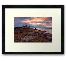 Blackness Castle Sunset Framed Print