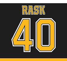 Boston Bruins Tuukka Rask Jersey Back Phone Case by Russ Jericho