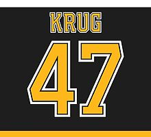 Boston Bruins Torey Krug Jersey Back Phone Case by Russ Jericho