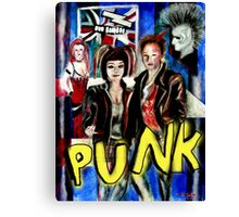 Punk Rock Style  Canvas Print