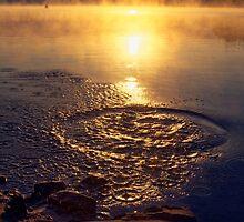 Ripple ring splash in water lake by Artur Mroszczyk