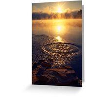 Ripple ring splash in water lake Greeting Card
