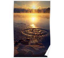 Ripple ring splash in water lake Poster