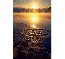 Ripple ring splash in water lake Photographic Print