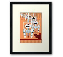 Robot Assembly Framed Print