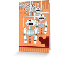 Robot Assembly Greeting Card