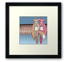 Chocolate vs Strawberry Framed Print