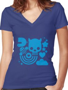 Bits and pieces Women's Fitted V-Neck T-Shirt